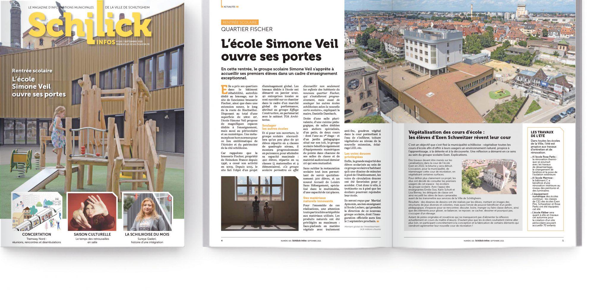 Modèle Schilick Infos site web